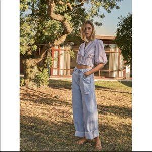 NWT Zara Wide Leg Low Rise Jeans Women's Size 2